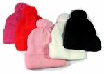 Beanies Wholesale | Pom Pom Beanies Trendy Winter Hats - SOLID COLORS