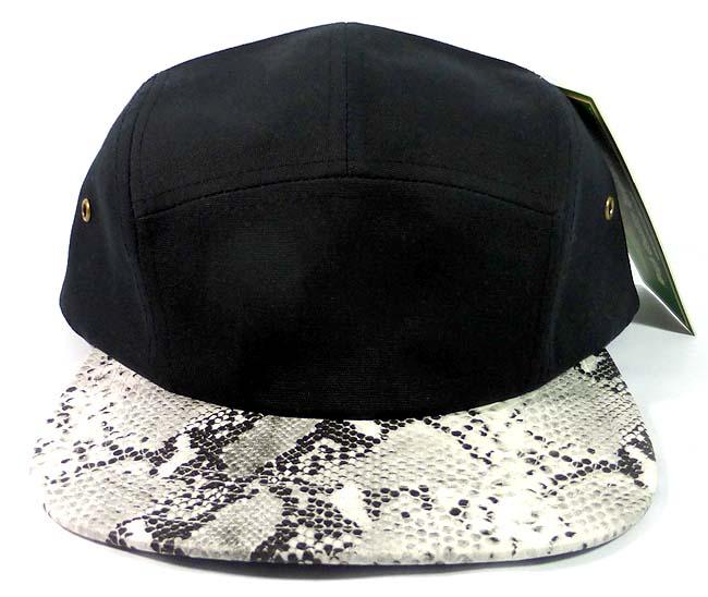79d202fadc0 Wholesale 5Panel Camp Hats Snakeskin Python Print Caps Bulk