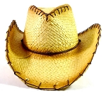 Western Cowboy Straw Hats Wholesale - String Edges