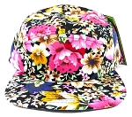 Wholesale 5Panel Floral Camp Hats Caps - Hawaiian Flowers