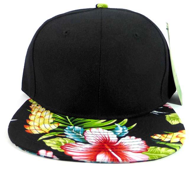 9940d630bef Floral Snapback Hats Caps Wholesale - Black