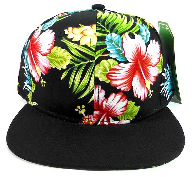 96a7f89fb46 Floral Snapback Hats Caps Wholesale - Hawaiian Hibiscus Flower