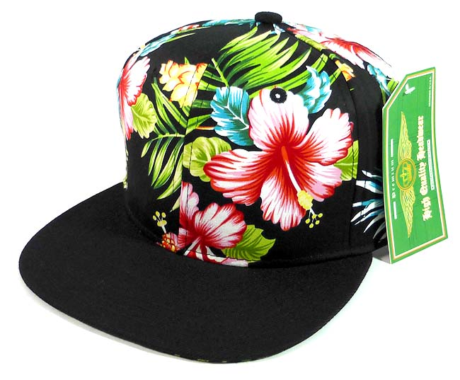 416184979c2 Floral Snapback Hats Caps Wholesale - Hawaiian Hibiscus Flower ...