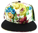 Floral Snapback Hats Caps Wholesale - Multicolored Flowers 2