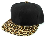 KIDS Junior Blank Snapback Hats Wholesale - Brown Cheetah