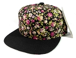 Junior Kids Plain Snapback Hats Wholesale - Children Floral Caps 10