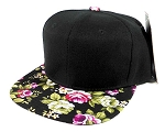 Junior Kids Plain Snapback Hats Wholesale - Children Floral Caps 11
