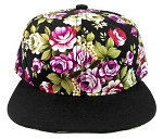 Junior Kids Plain Snapback Hats Wholesale - Children Floral Caps 12