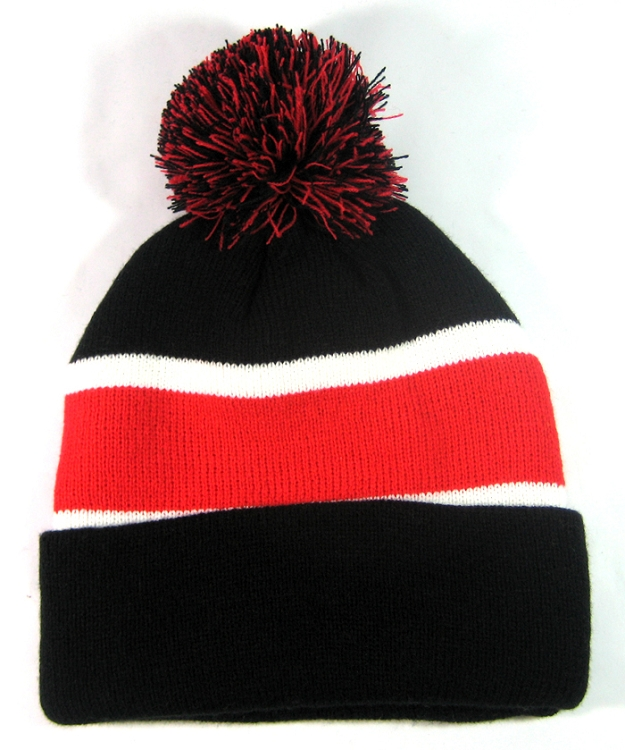 3533744daa6dc Wholesale Pom Pom Winter Beanies Hats Black Red Trendy Clothing Bulk