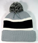 Wholesale Winter Pom Pom Beanies - Grey | Black