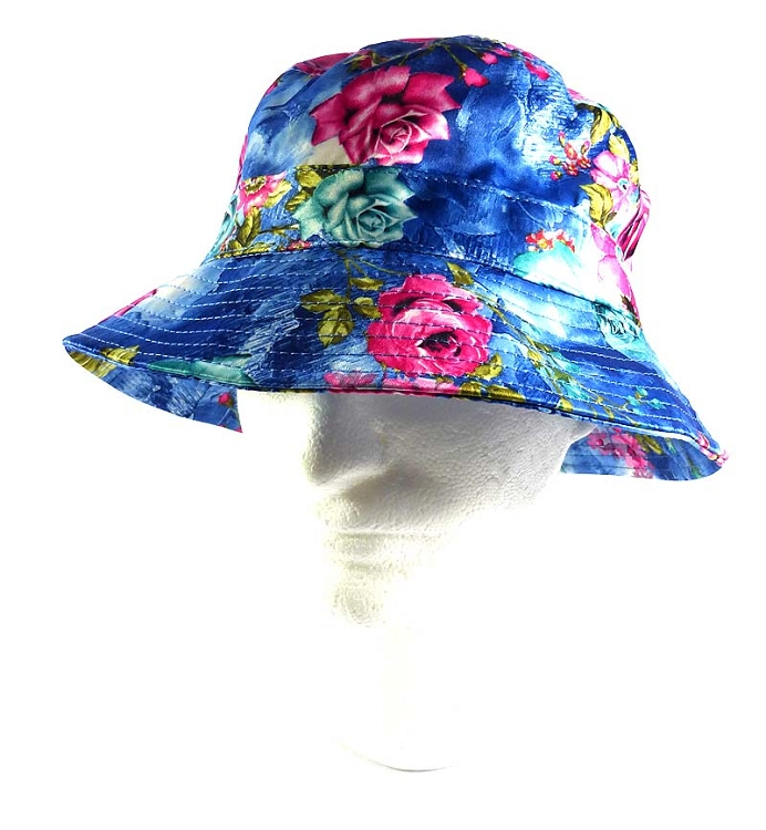 1683f9f290f norway wholesale fashion bucket hats blue pink roses 13d56 870a0