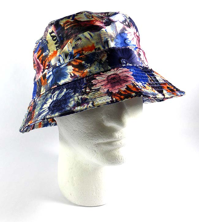 Wholesale Fashion Bucket Hats - Daisy Flowers   Love Print 6dad98d8a35