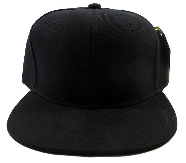 18605c0e Blank Black Snapback Caps Hats Wholesale - Black Under Bill