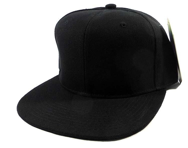 5e8d37cd22e Blank Black Snapback Caps Hats Wholesale - Black Under Bill