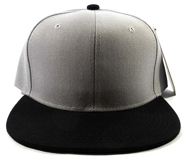 Wholesale Blank Snapback Hats   Caps - Gray  a2348212e26