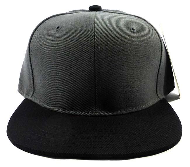 Wholesale Blank Snapback Hats   Caps - Dark Grey  ead1372d91a