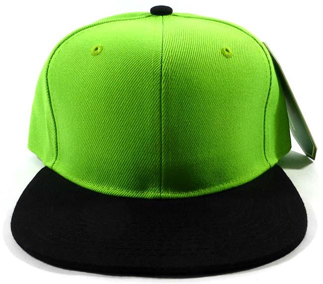 71803f3bddd Wholesale Blank Snapback Hats   Caps - Lime Green