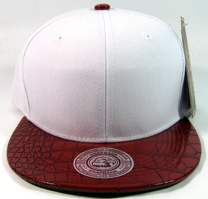 Blank Vintage Alligator Skin Snapback Hats Wholesale  7a7963b7c4b4