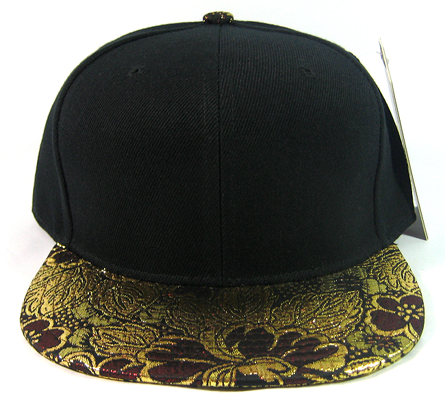 a9c1cb7cff4 Blank Vintage Floral Snapback Hats Wholesale - Gold   Burgundy