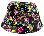 Wholesale Fashion Bucket Hats - Flowers | Black