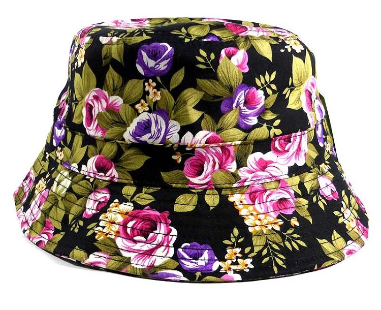 Home   ALL HATS   Wholesale Floral Bucket Hats - Flowers Black 01ba495b71e