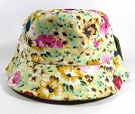 Wholesale Fashion Bucket Hats - Hawaiian Hibiscus Light