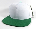 Blank Snapback Hats Caps Wholesale - White | K. Green