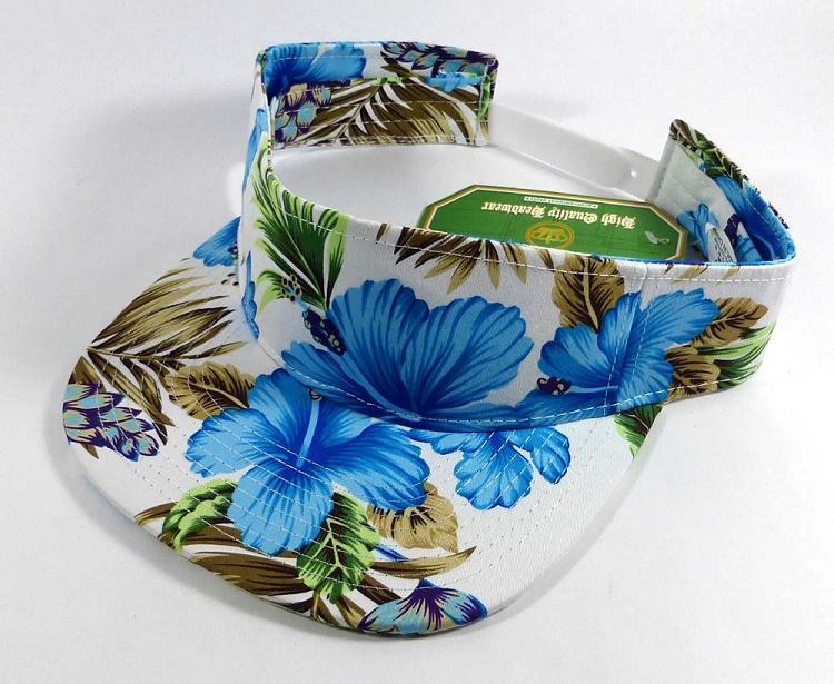 Flatbill Blank Snapback Visors Wholesale - Hawaiian Flowers Caps ... b4dffacc411