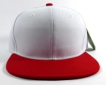 Wholesale Blank Snapback Hats Caps - White | Red