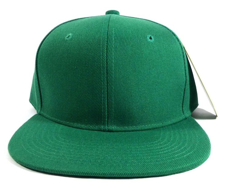 8bb62f3d Wholesale Blank Snapback Hats Caps - Kelly Green