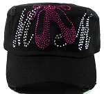 Bling Ballet Dance MOM Cadet Hats Wholesale - Black