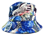 Wholesale Fashion Bucket Hats - Flowers & Butterflies | Blue