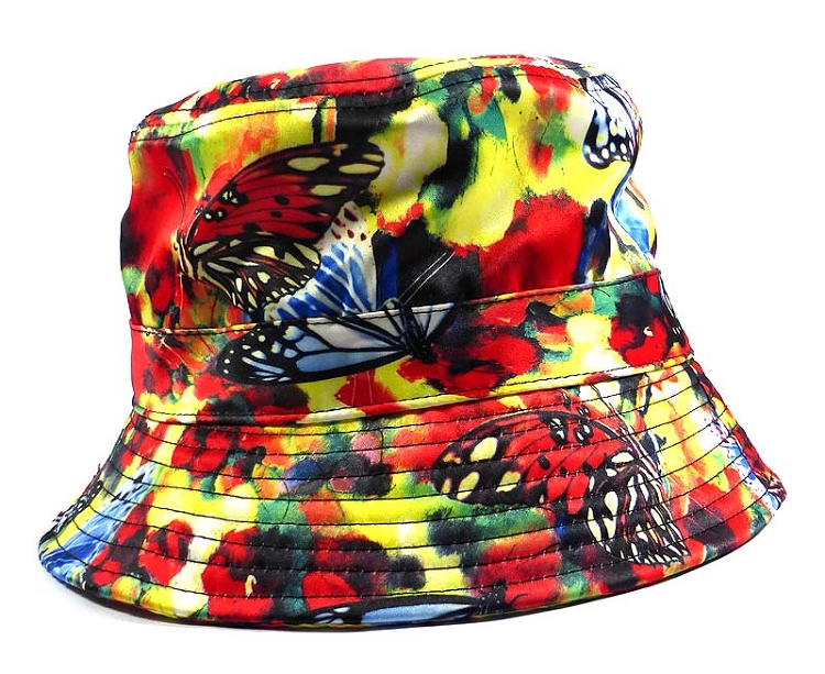 Wholesale Fashion Bucket Hats - Mixed Paint Butterflies  cd917357230
