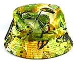 Wholesale Fashion Bucket Hats - Butterflies & Lime