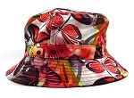 Wholesale Fashion Bucket Hats - Dragonflies | Coral Red