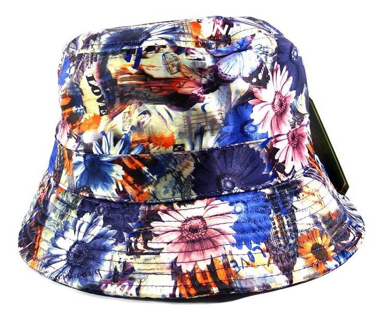 Home   ALL HATS   Wholesale Fashion Bucket Hats - Daisy Flowers   Love Print 1d259fb2d55