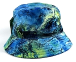 Wholesale Fashion Bucket Hats - Marble Pattern | Blue