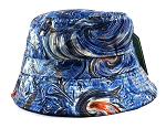 Wholesale Fashion Bucket Hats - Marble Pattern Print | Blue