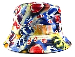 Wholesale Fashion Bucket Hats - Marbles | Blue & Red
