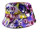 Wholesale Fashion Bucket Hats - Marbles | Purple