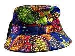 Wholesale Fashion Bucket Hats - Floral Leaves | Blue