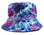 Wholesale Fashion Bucket Hats - Peacock Feathers | Pearl Blue