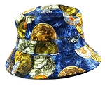 Wholesale Fashion Bucket Hats - Bitcoins | Blue