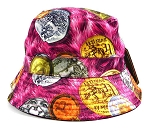 Wholesale Fashion Bucket Hats - Bitcoins | Hot Pink