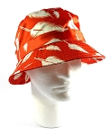 Wholesale Fashion Bucket Hats - Leaves | Orange