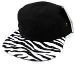 Junior/Kids 5-Panel Camp Hats Wholesale - Zebra
