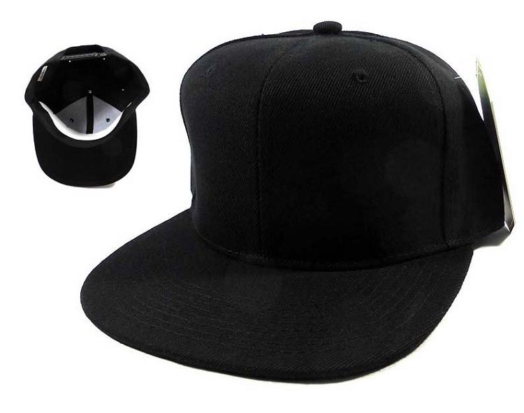 87326430a1f16 Blank Black Snapback Caps Hats Wholesale - Black Under Bill