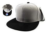 Wholesale Blank Snapback Hats & Caps - Gray | Black Brim