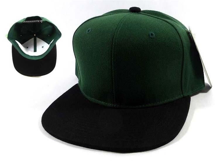 Wholesale Blank Snapback Hats   Caps - Hunter Green  7a615f1e891