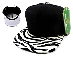 Junior Kids Blank Zebra Snapback Caps Wholesale  BK Zebra